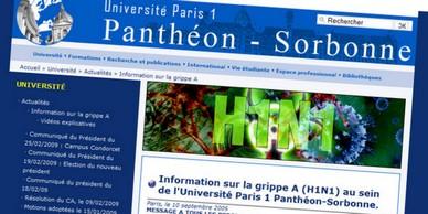 Université Paris 1 Panthéon-Sorbonne- Information sur la grippe A